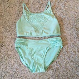Blue-green swimsuit